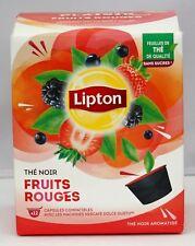 NEW 1 X Box Nescafe Dolce Gusto Lipton Red Fruit Tea -  Black 12 Capsules Gift