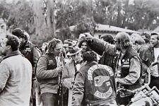 Hells Angels Motorcycle Gang California Rally Good Times 1960's 8.5x11 Photo