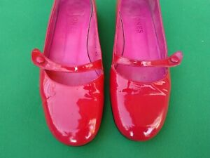 Retro pink Jones Bootmaker Annie leather ballerinas low heels shoes UK 5