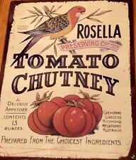 Rosella Metal Tin Sign Plaque Advertising Kitchen Bushells Arnotts Also Listed