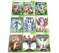 Lot of 9 Microsoft Xbox 360 Games Resident Evil Dragon Age Far Cry Dark Souls