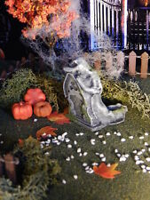 Halloween TOMBSTONE ~ Weeping Woman ARCH Headstone ~ Dept 56 GRAVE train G scale