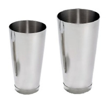 Martini Bar Cocktail Drinks Shaker Stainless Steel Boston Flair Mixing Tin Set
