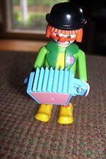 1986 Geobra Playmobil Clown Figure with Accordian