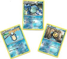 SEISMITOAD+PALPITOAD+TYMPOLE-3 EVO DRAGONS EXALTED Pokemon Cards-REV HOLO MINT