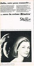 PUBLICITE ADVERTISING 055  1966  DR PAYOT  cosmétiques CREME HEMERA