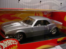 '68 CAMARO 💕silver;redline☆HOT WHEELS CLASSICS☆1:18 scale☆LIMITED EDITION☆H8763