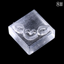 Acrylic Natural Word Handmade Clear Soap Stamping Stamp Seal Mold Craft DIYgit