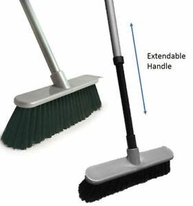 Extendable Soft Indoor Sweeping Broom Kitchen Caravan Brush Telescopic Handle