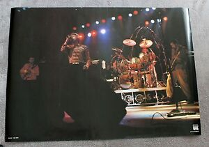 The WHO 1980s Roger Daltrey Pete Townshend Live Concert RARE Poster #RO 042 EX+