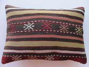 "Pillow Cover, 14"" x 20"" pillow Cushion Case, Throw pillow, Kelim Kissen, carpets"