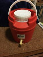 Vintage Tough One Water Cooler  With Spout By Family 4 Quarts