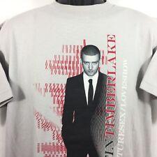 Justin Timberlake 2007 Futuresex/Loveshow mens gray concert t-shirt size M