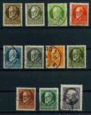 (Bay09w) Bayern 1914 , Michel Nr. 94-102,105,94 andere F. gestempelt, MK 69,80 €