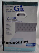 SensorGel Luxury ICOOL 3 Inch Gel-Infused Memory Foam QUEEN Mattress Topper