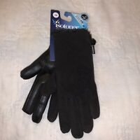 ISOTONER GLOVES WOMEN'S SMART DRI/SMART TOUCH BLACK ONE ONE SIZE POLYSTER/SPANDE