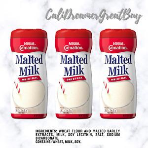 Carnation Malted Milk, Original, 13-Ounce Jars (Pack of 3)