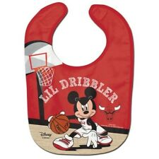 CHICAGO BULLS MICKEY MOUSE BABY BIB DISNEY NBA OFFICIALLY LICENSED