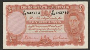 1939 AUSTRALIA 10 SHILLING NOTE  AU
