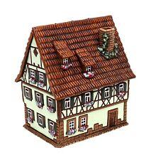 Keramik Teelichthaus Lichterhaus Fachwerkhaus Gästehaus farbig 15 cm 40565