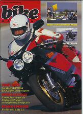 Bike Feb 1989  GSX-R1100 GSX750F Norton 588 Le Mans Mk5
