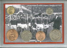 Manchester United Utd Man U Vintage League Champions Retro Coin Gift Set 1967