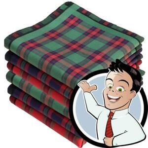 Stofftaschentücher 6 Stück ca.40x40cm reine Baumwolle Herrentaschentuch Highland