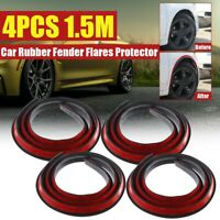 4x Universal Car Fender Flare Extension Wheel Eyebrow Trim Arch Strip Protector
