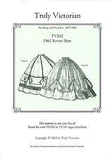 Schnittmuster Truly Victorian TV 242: 1863 Revere Skirt
