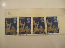 GB QE11 Stamps Used Block 4; 25th Anniversary of Coronation - Commemorative CDS