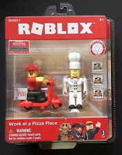 Roblox Series 1 Work At A Pizza Place 2 Figures and Scooter New