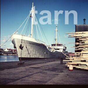 60 x 60 mm glass slide Ship Henry Denny c1950s/60s r39