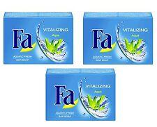 (23,20€/kg) 3x 100g Fa Vitalizing Aqua Handseife Blockseife Aquatic Fresh Seife