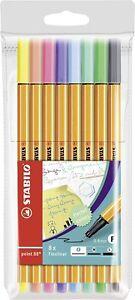 STABILO point 88 Fineliner Pastel Pens (2 packs)