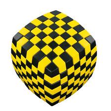 V-Cube 7 x 7 - Illusion - schwarz/gelb - Zauberwürfel