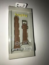 heyday Apple Watch Leather And Faux Leather Band 42/44mm New Brown