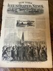 Antique 1861 Civil War Newspaper Page Perryville Battery Colonel Wilson Zouaves