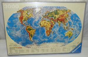 NIB Sealed 1985 Ravensburger World Map Globe 3000 Piece Jigsaw Puzzle # 17024 1