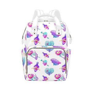 Creepy Ribcage Baby Changing Diaper Backpack Rucksack Nappy Bag Alternative