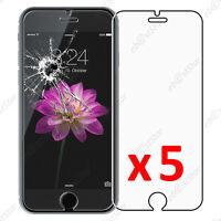 """Lot 5 Film protection écran VERRE Trempé Vitre anti casse Apple iPhone 6 4,7"""""""