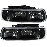 Scheinwerfer Set Chevrolet Silverado 99-02 klarglas schwarz SONAR