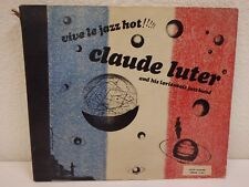 """1948 CLAUDE LUTER Vive Le Jazz Hot 10""""/78 rpm 3-Disc Book Set Circle S-14 VG+/EX"""