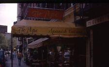 SIDEWALK VIEW TIO PEPE RESTAURANT,  4TH ST NEW YORK 1974 35mm PHOTO SLIDE