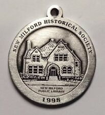 New Milford Public Library New Milford Historical Society Pewter Medallion