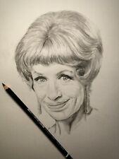 Original Hand Drawn Pencil drawing of YOOTHA YOYCE 'george & mildred'