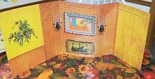 Vintage 1960's Barbie GO TOGETHER Living Room Cardboard Fold Out Backdrop