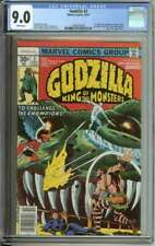 GODZILLA #3 CGC 9.0 WHITE PAGES // CHAMPIONS COVER/APPEARANCE 1977