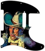 Telecaster Pickguard Custom Fender Tele 8 Hole Guitar Pick Guard Smokin' Cowboy