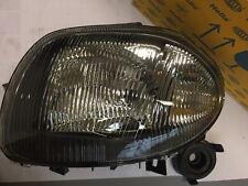 Renault Clio II 3/98-5/01 - Faro Ant. Sinistra H4 + Lampeggiante - Hella Nuovo