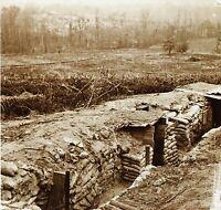 Trincee Grande Guerre 14-18 Francia Foto PL51L14n Placca Vintage